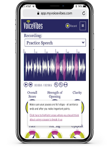 VoiceVibes learning and development software AI-powered machine learning coaching